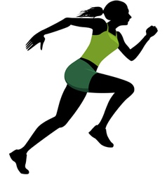 Female runner silhouette vector