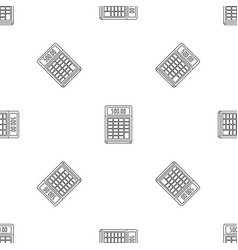 financial calculator pattern seamless vector image