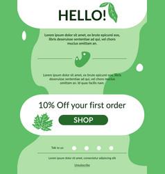 First order newsletter template vector