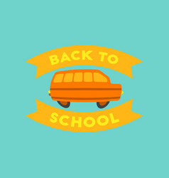 Flat icon on background back to school bus vector