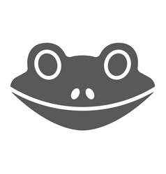 frog glyph icon animal and zoo amphibian sign vector image