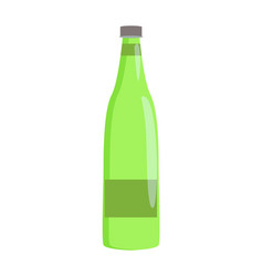Glass bottle with label banner vector