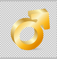 golden gender symbol vector image