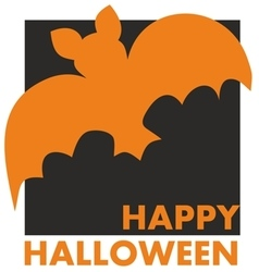 Happy Halloween party card with bat and wishes vector image