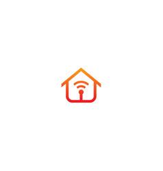 Home alarm signal logo vector