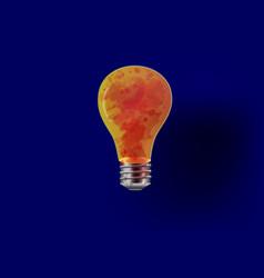 horror bloody light bulbs vector image