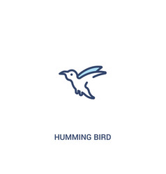 Humming bird concept 2 colored icon simple line vector