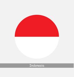 Indonesia round circle flag vector