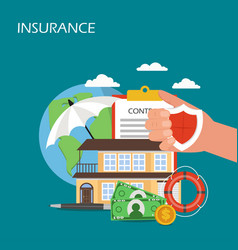 insurance concept flat style design vector image