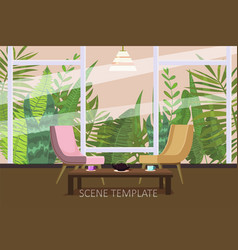 interior template design of residential or living vector image