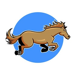 jump horse vector image