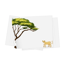 lion paper template vector image