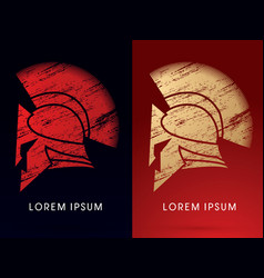 luxury roman or greek helmet vector image
