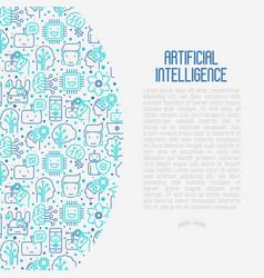 Machine learning artificial intelligence concept vector