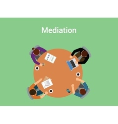 mediation concept a member team or vector image vector image