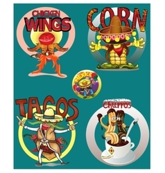 Mexican food background with traditional spicy vector image vector image