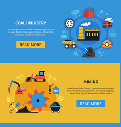 mining banners set vector image