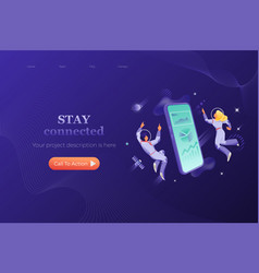 modern connection header template vector image