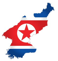 North Korea map vector