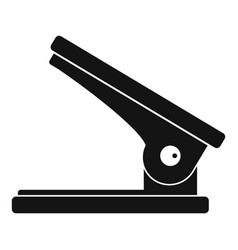 Office paper hole puncher icon simple style vector