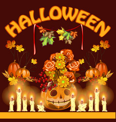 Poster on theme halloween holiday party or vector