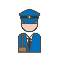 Postman avatar icon on white backgroundai vector