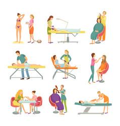 procedures in spa and beauty salon isolated vector image