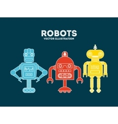 robot concept design vector image