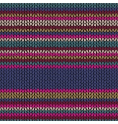 Seamless Ethnic Color Striped Knitted Pattern vector image