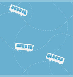Seamless pattern with bus vector
