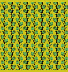 seamless pattern with japan hop plant in vector image