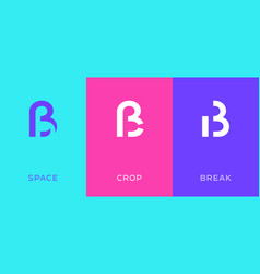 Set letter s eszett ligature minimal logo icon vector