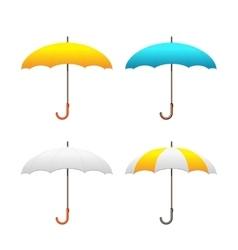Set of colorful umbrellas vector