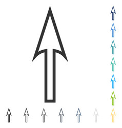 Sharp arrow up icon vector