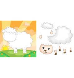sheep puzzle vector image
