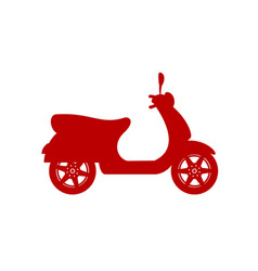 Silhouette of scooter in red design vector