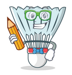 Student shuttlecock character cartoon vector