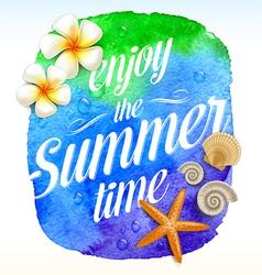 Summer card design vector