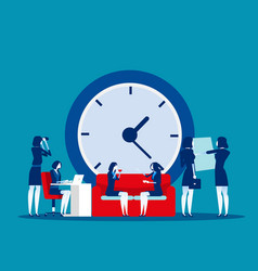 time management concept business clock office vector image