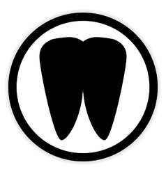 Tooth button on white vector image