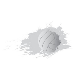 volleyball ball icon with an effect vector image