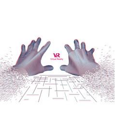 Vr hands vector