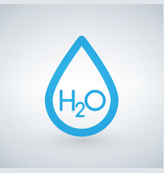 water h2o drop line icon outline sign linear vector image