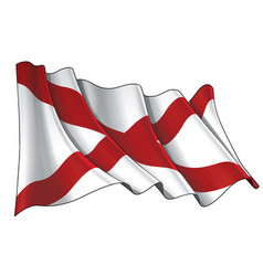 Waving flag state alabama vector