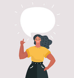 woman with speech bubble for your text vector image