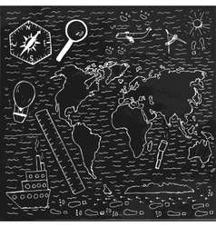 World Hand drawn map vector image