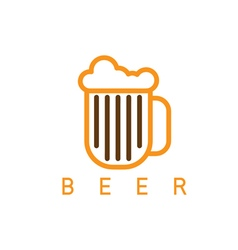abstract icon design template of beer vector image vector image