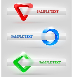 Abstract shapes and banners for message or text vector image vector image