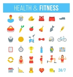 Fitness gym and healthy lifestyle flat vector image vector image