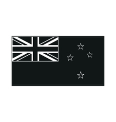 Flag of the country new zeland monochrome on white vector image vector image